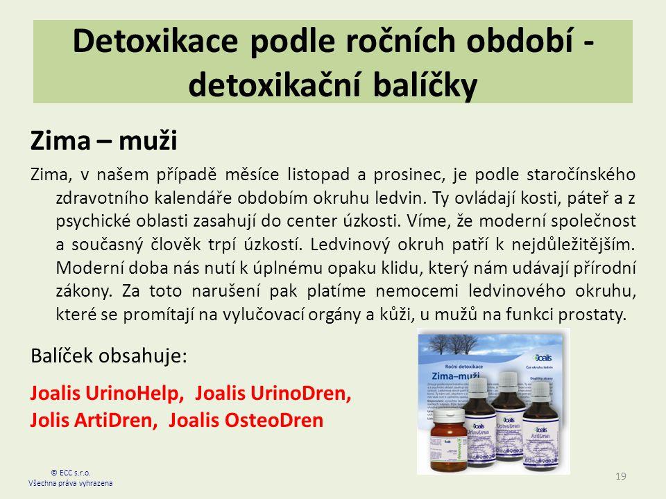Detoxikace podle ročních období - detoxikační balíčky Zima – muži Zima, v našem případě měsíce listopad a prosinec, je podle staročínského zdravotního kalendáře obdobím okruhu ledvin.