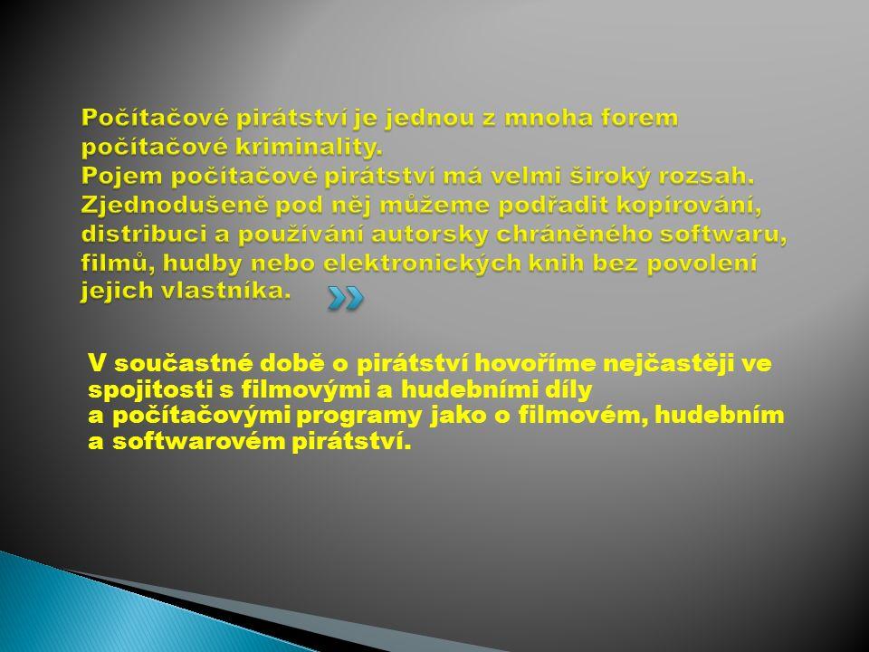 Sdílení filmů, hudby, softwaru, elektronických knih a dalších souborů chráněných autorskými právy k následnému stahování.