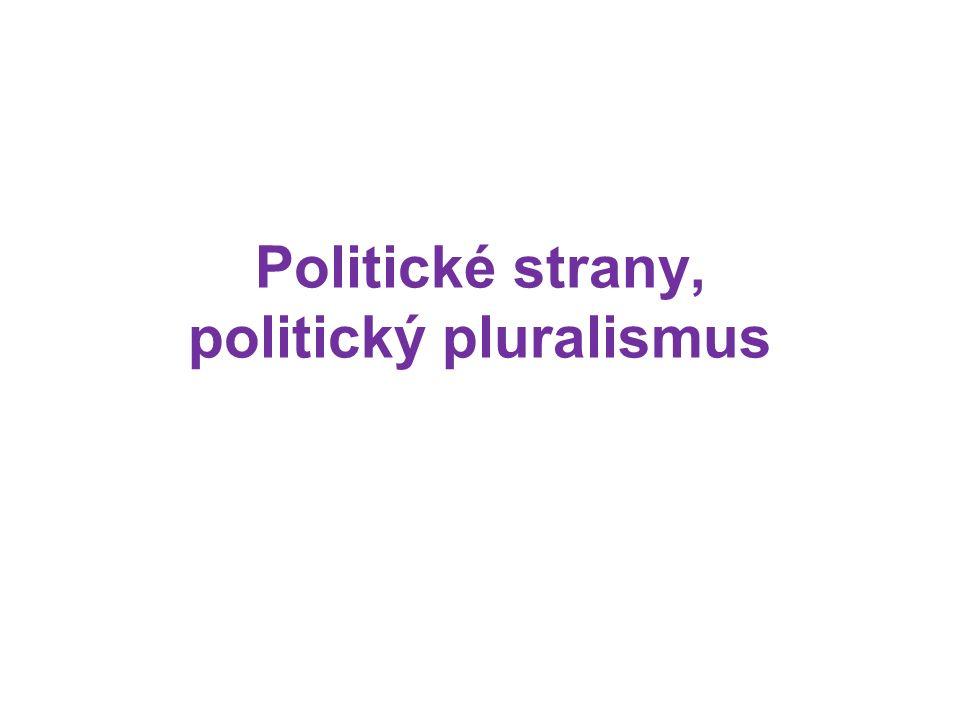 Politické strany, politický pluralismus