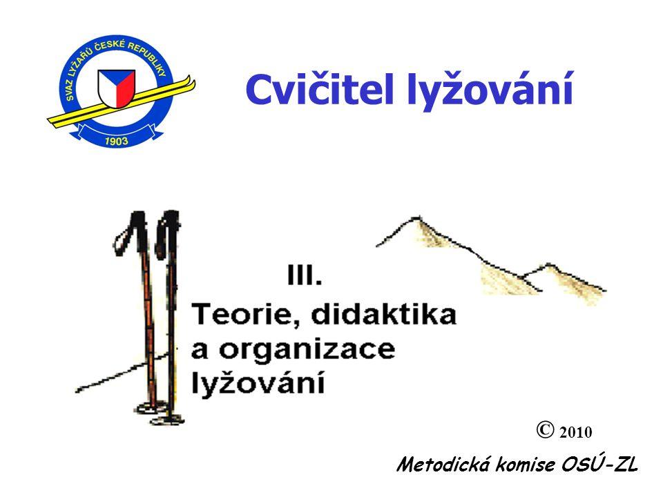 Metodická komise OSÚ-ZL Cvičitel lyžování © 2010