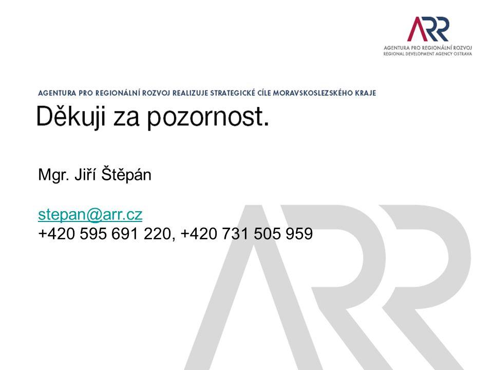 Mgr. Jiří Štěpán stepan@arr.cz +420 595 691 220, +420 731 505 959
