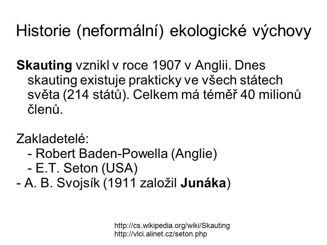 V roce 1974 iniciovali pracovníci Ústavu krajinné ekologie ČSAV ve spolupráci s novinářem Josefem Velkem v časopise Mladý svět kampaň na ochranu životního prostředí.