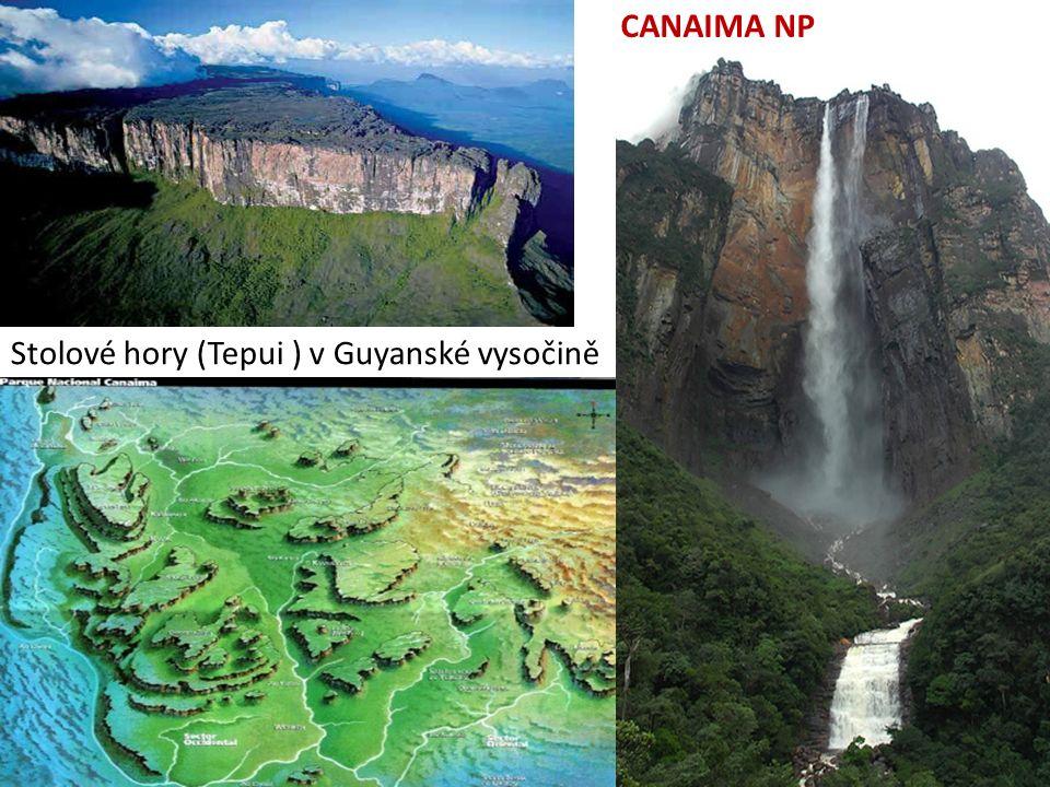 9.10.2013 CANAIMA NP Stolové hory (Tepui ) v Guyanské vysočině