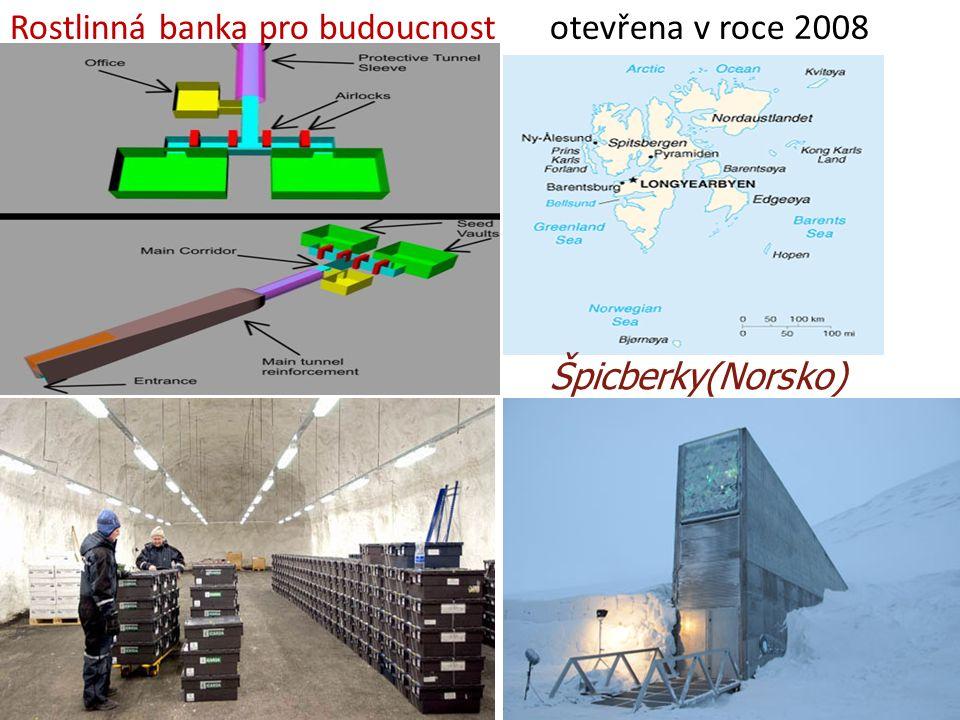 9.10.2013 Špicberky(Norsko) Rostlinná banka pro budoucnost otevřena v roce 2008