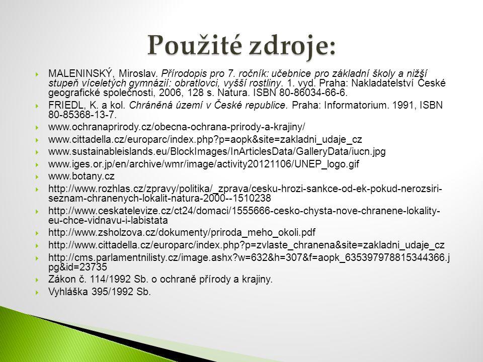  MALENINSKÝ, Miroslav. Přírodopis pro 7. ročník: učebnice pro základní školy a nižší stupeň víceletých gymnázií: obratlovci, vyšší rostliny. 1. vyd.