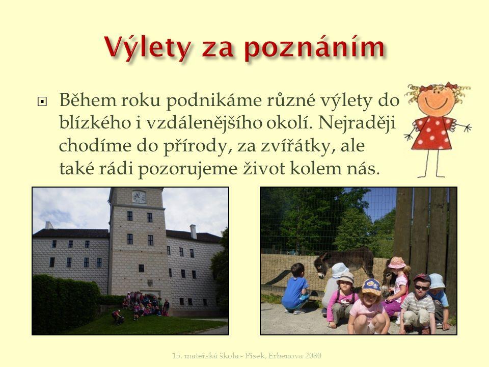  Podle možností navštěvujeme zvířátka v Makově a v ZOO v Hluboké nad Vltavou.