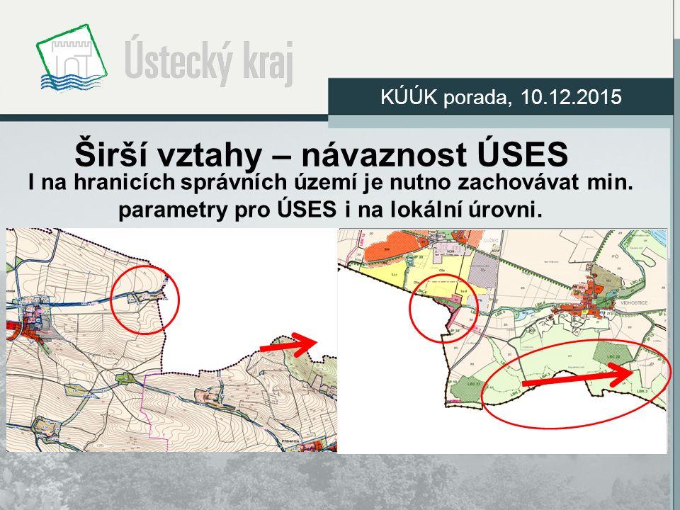 Širší vztahy – návaznost ÚSES I na hranicích správních území je nutno zachovávat min.