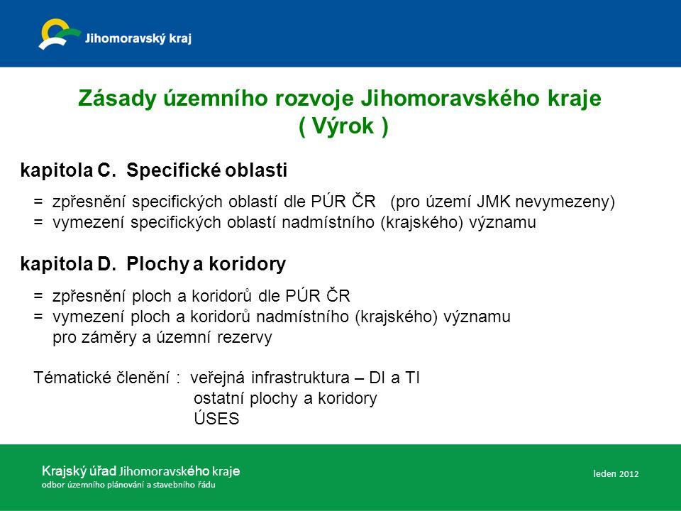 Zásady územního rozvoje Jihomoravského kraje ( Výrok ) kapitola C.