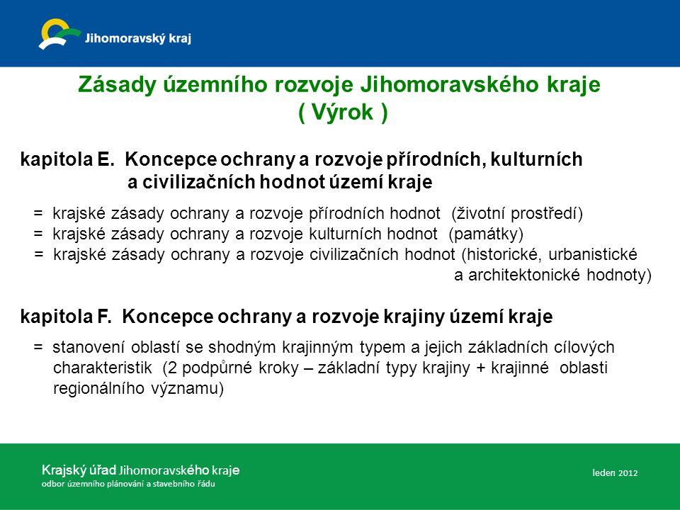 Zásady územního rozvoje Jihomoravského kraje ( Výrok ) kapitola E.