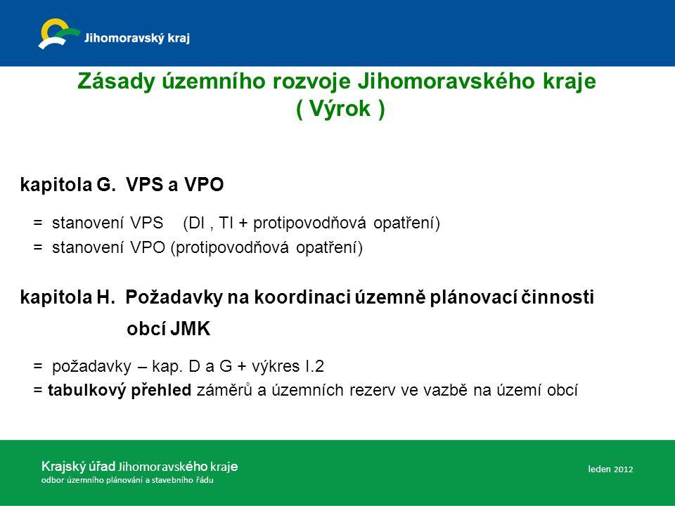 Zásady územního rozvoje Jihomoravského kraje ( Výrok ) kapitola G.