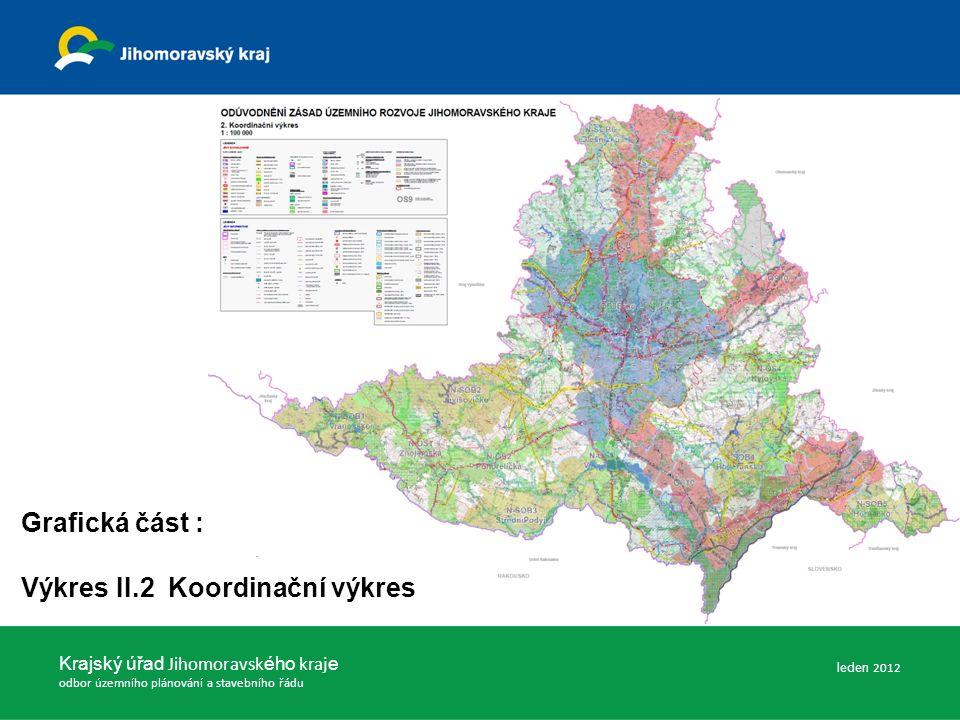 Krajský úřad Jihomoravsk ého kraj e odbor územního plánování a stavebního řádu Grafická část : Výkres II.2 Koordinační výkres leden 2012