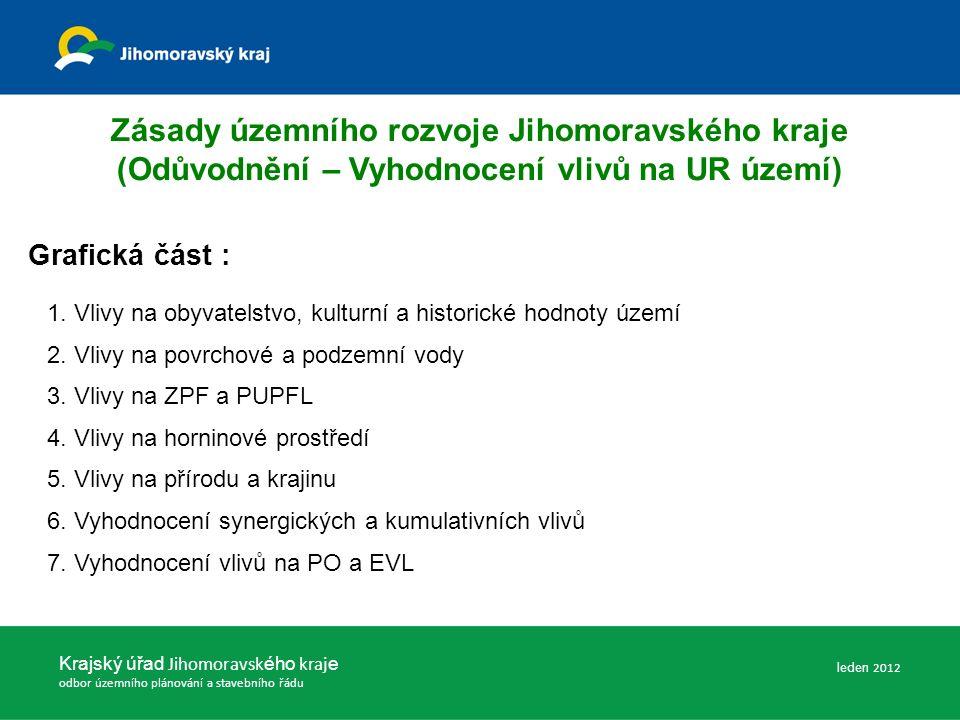 Zásady územního rozvoje Jihomoravského kraje (Odůvodnění – Vyhodnocení vlivů na UR území) Grafická část : 1.