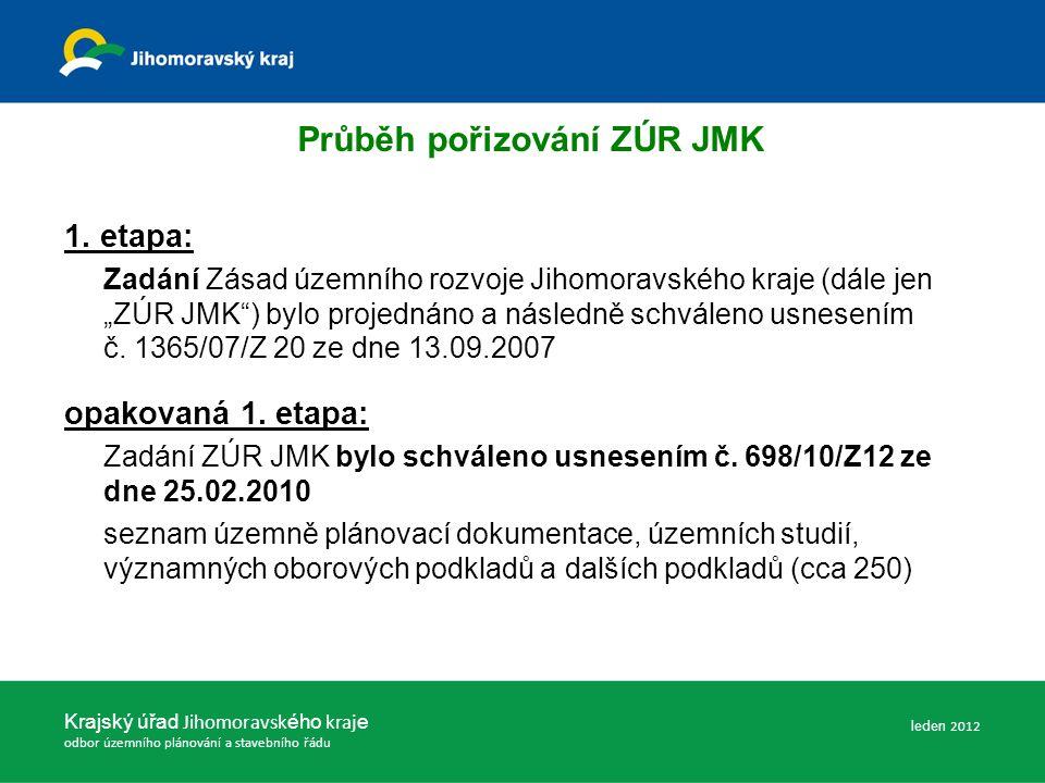 Zásady územního rozvoje Jihomoravského kraje (Odůvodnění) Textová část : Kapitola A.