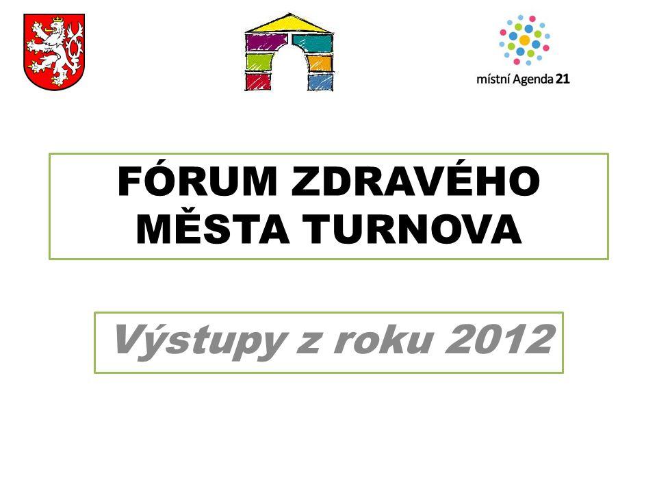 FÓRUM ZDRAVÉHO MĚSTA TURNOVA Výstupy z roku 2012