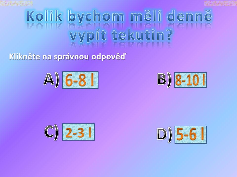 Klikněte na správnou odpověď