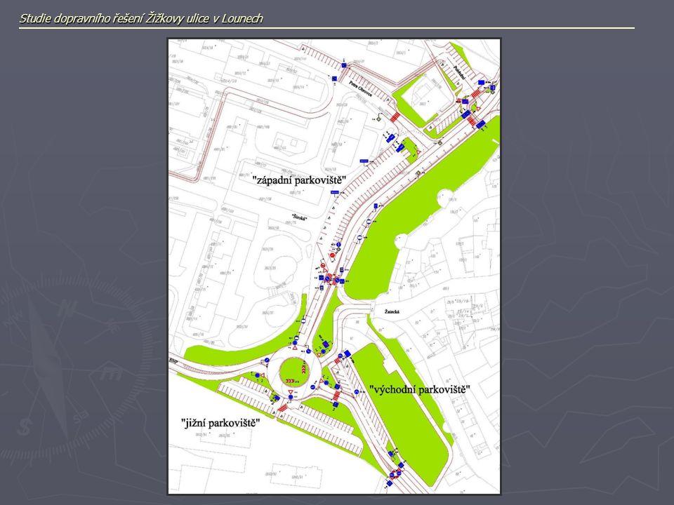 Studie dopravního řešení Žižkovy ulice v Lounech