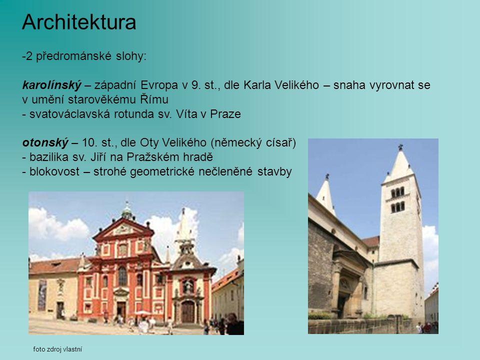Architektura -2 předrománské slohy: karolínský – západní Evropa v 9.