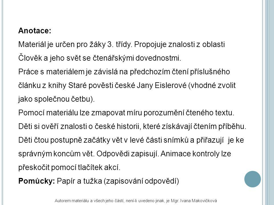 K ARLŮV MOST PŘIPOJ K SOBĚ SPRÁVNÉ ČÁSTI VĚT Obr.01