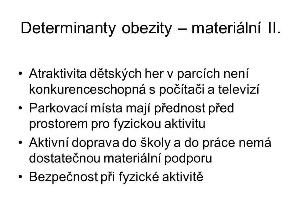 Determinanty obezity – materiální II.