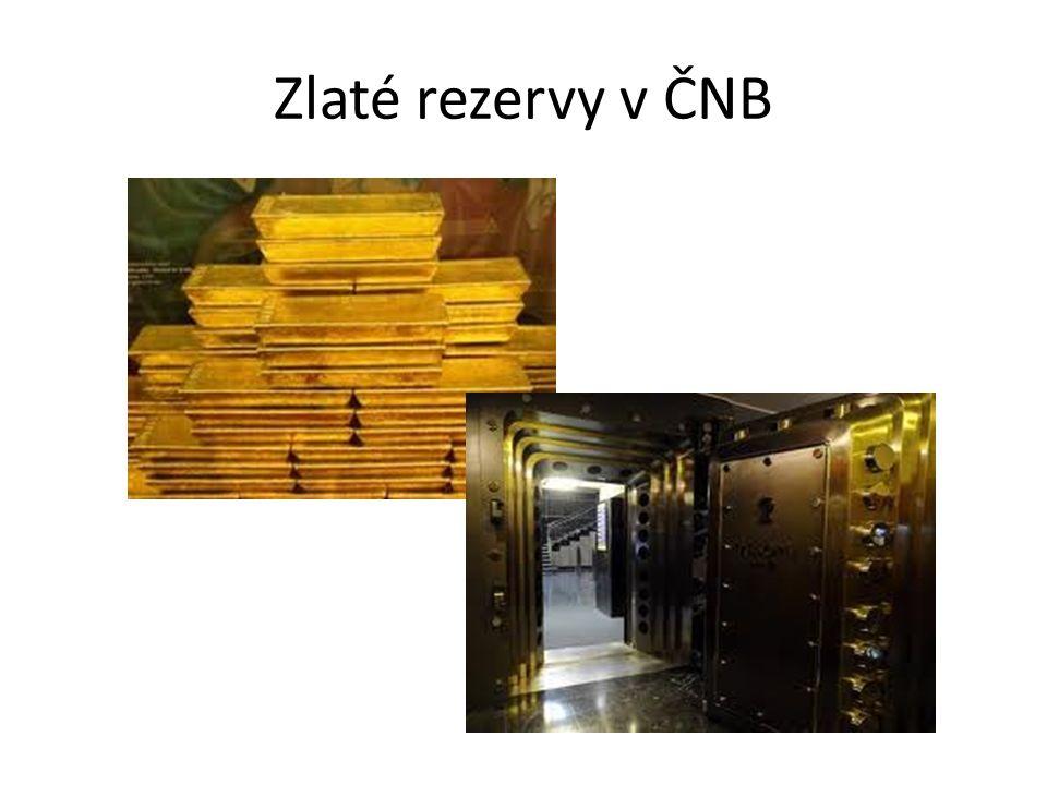 Zlaté rezervy v ČNB