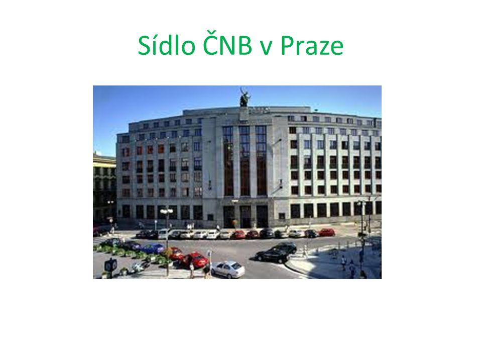 Sídlo ČNB v Praze