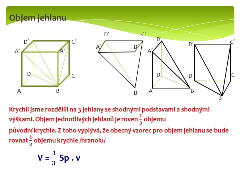 Povrch pravidelného čtyřbokého jehlanu a v₁v₁