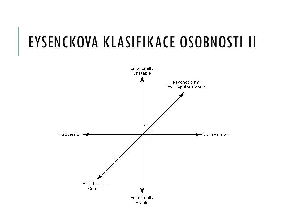 EYSENCKOVA KLASIFIKACE OSOBNOSTI II