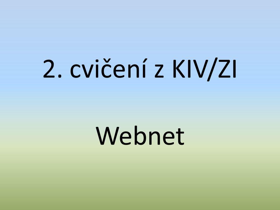 2. cvičení z KIV/ZI Webnet