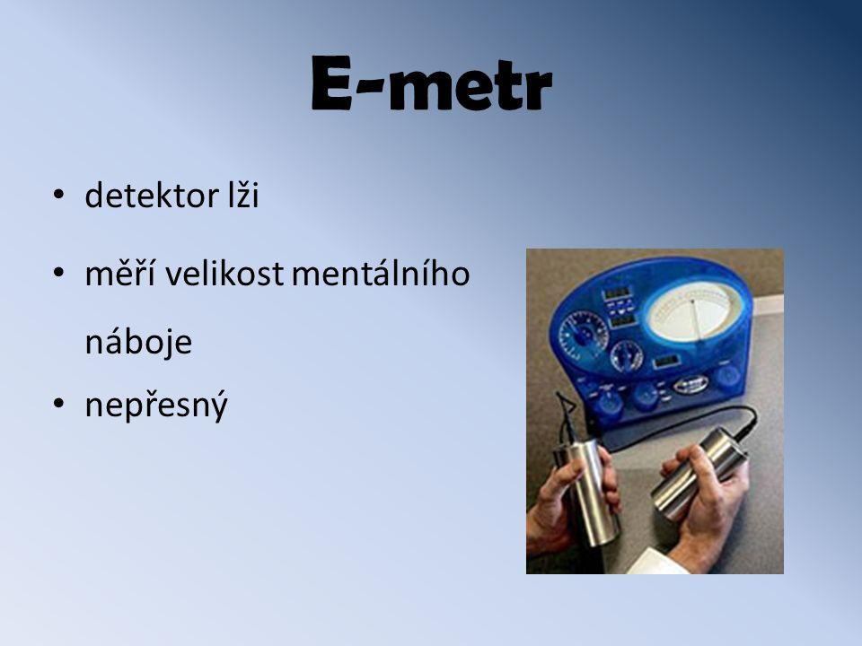 E-metr detektor lži měří velikost mentálního náboje nepřesný