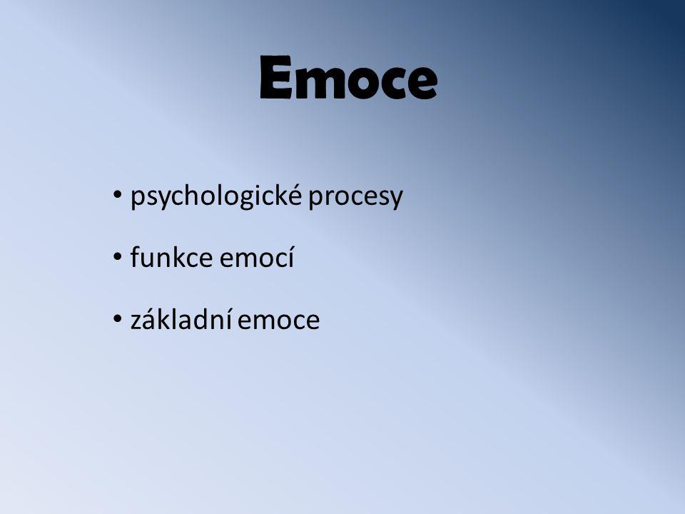 Emoce psychologické procesy funkce emocí základní emoce