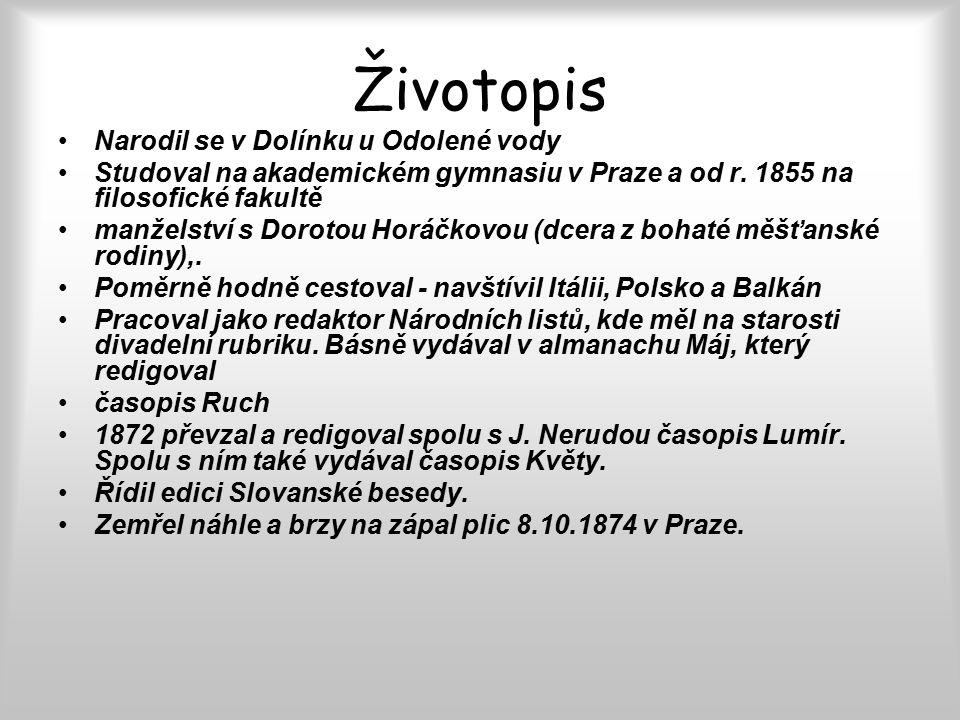 Životopis Narodil se v Dolínku u Odolené vody Studoval na akademickém gymnasiu v Praze a od r.