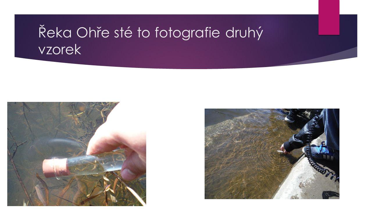 Řeka Ohře sté to fotografie druhý vzorek