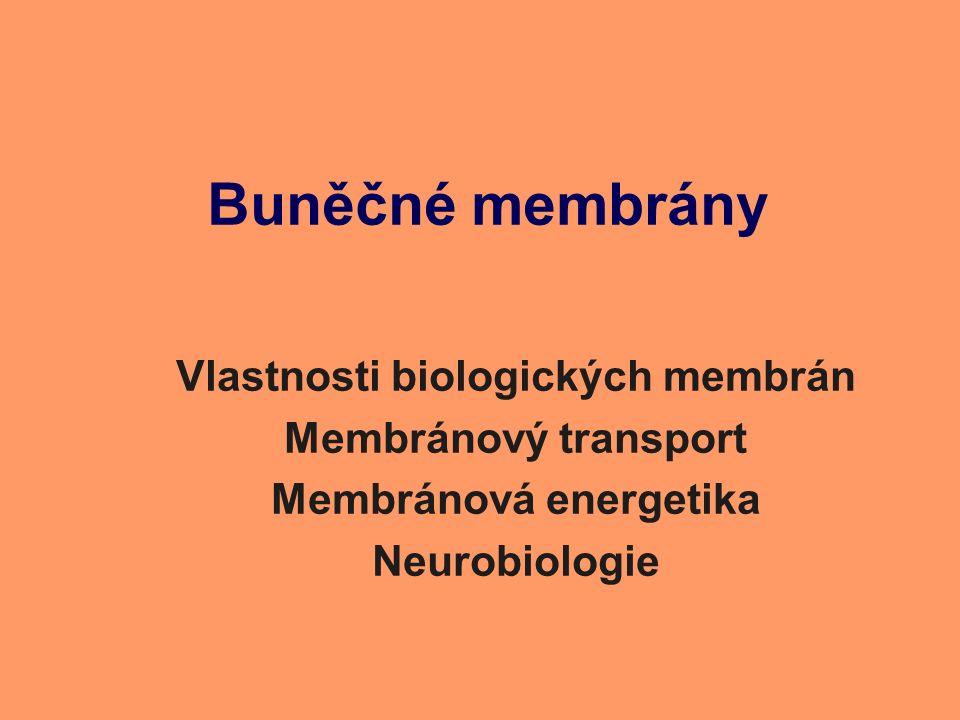 Buněčné membrány Vlastnosti biologických membrán Membránový transport Membránová energetika Neurobiologie
