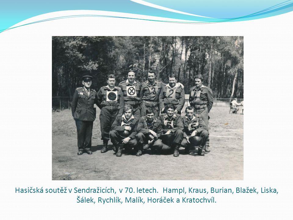 Hasičská soutěž v Sendražicích, v 70. letech.