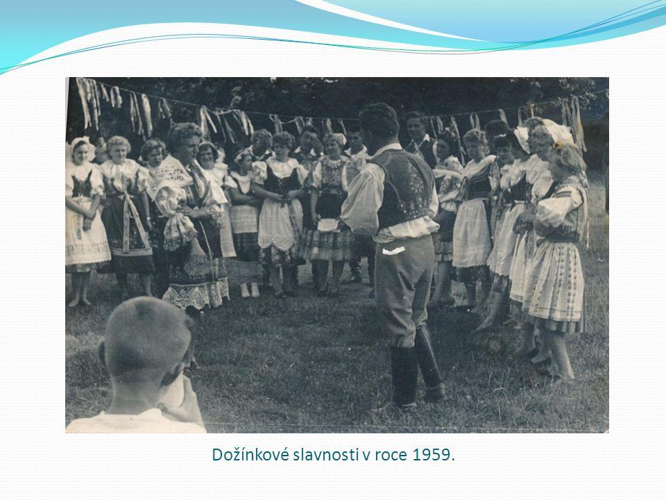 Dožínkové slavnosti v roce 1959.