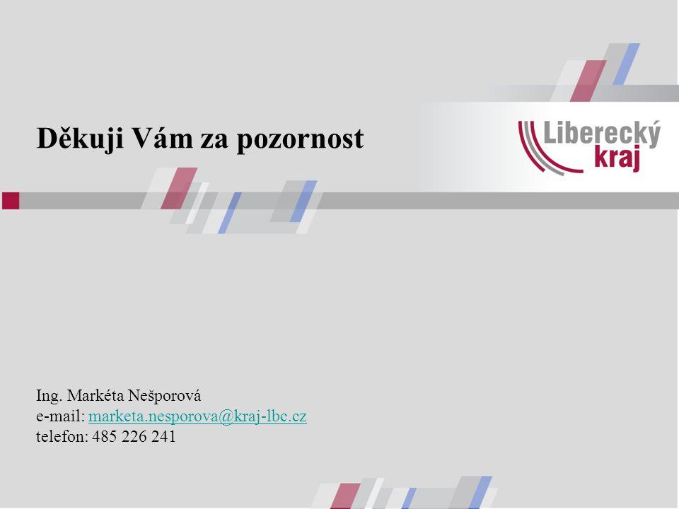 Děkuji Vám za pozornost Ing. Markéta Nešporová e-mail: marketa.nesporova@kraj-lbc.cz telefon: 485 226 241marketa.nesporova@kraj-lbc.cz