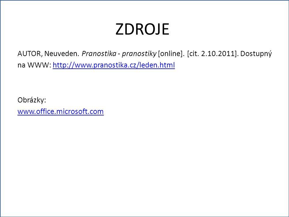AUTOR, Neuveden. Pranostika - pranostiky [online].