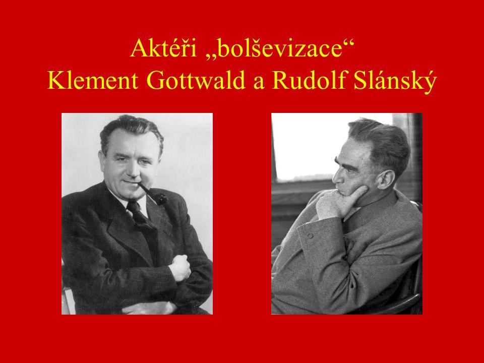 """Aktéři """"bolševizace Klement Gottwald a Rudolf Slánský"""