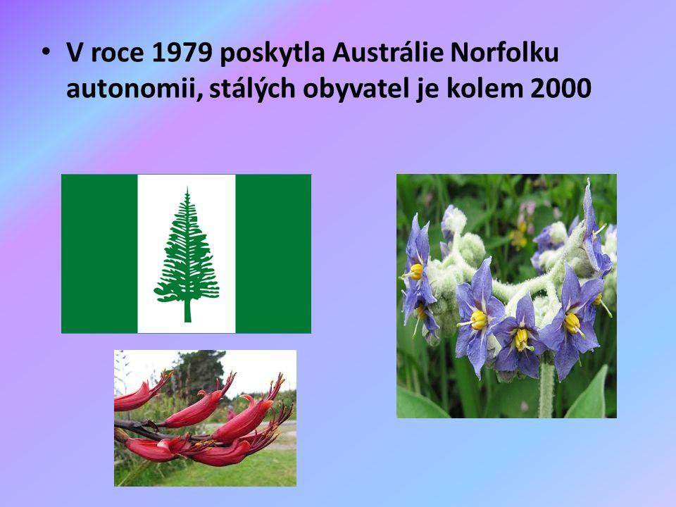V roce 1979 poskytla Austrálie Norfolku autonomii, stálých obyvatel je kolem 2000
