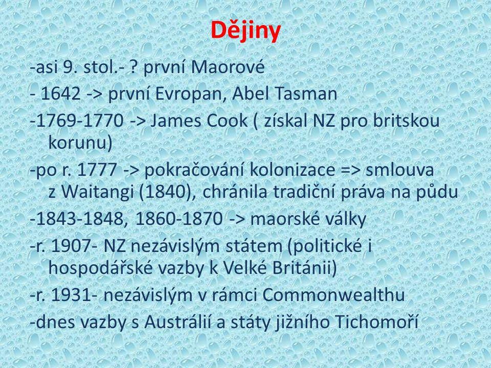 Dějiny -asi 9. stol.- .