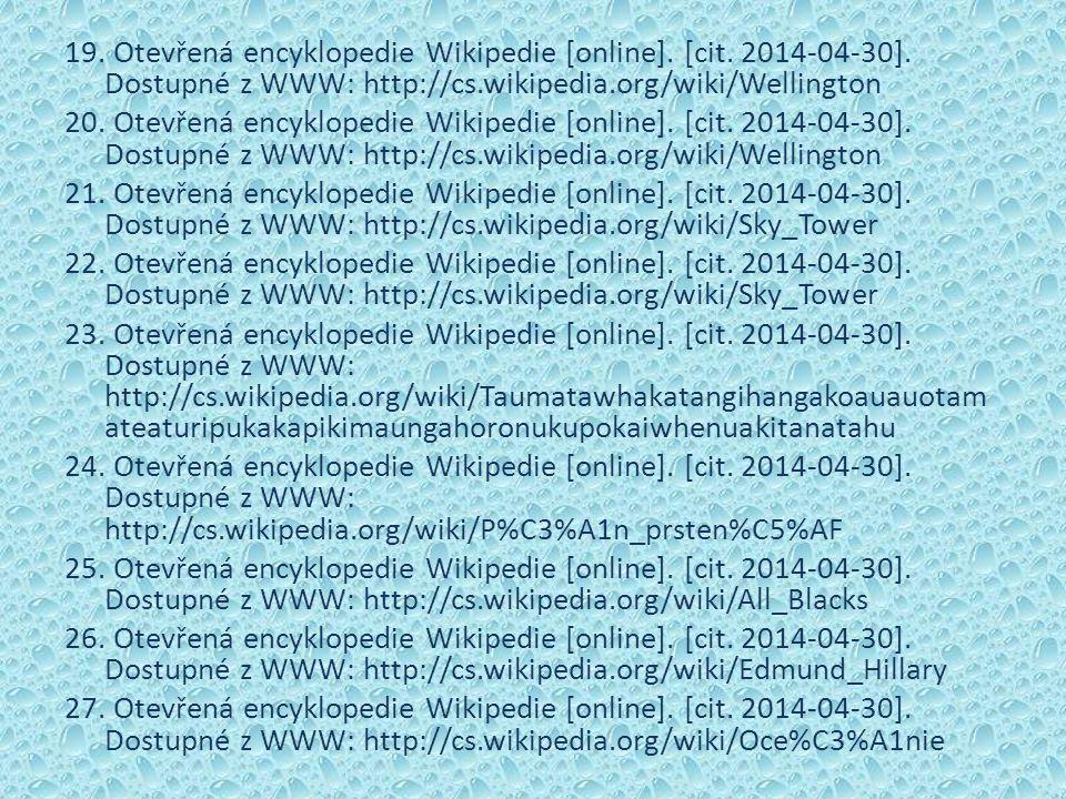 19. Otevřená encyklopedie Wikipedie [online]. [cit.