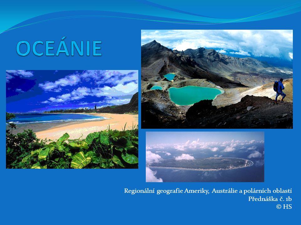 Fidži (nezávislý stát) osamocené souostroví 322 ostrovů vulkanického nebo korálového původu 2 největší ostrovy jsou Viti Levu a Vanua Levu Hlavní město Suva (52 742 obyvatel) na jihovýchodě Viti Levu je zároveň největším městem Francouzské polynésie v zemi žije 473 983 domorodých (57 % populace), 311 591 (38 %) Indů a 42 326 (5 %) ostatních patří k nejrozvinutějším státům Oceánie důležitou roli v ekonomice má zemědělství (pěstování cukrové třtiny) ložiska zlata, stříbra a měděných rud průmysl není příliš rozvinutý - nejrozvinutějším odvětvím potravinářský průmysl (cukrovary, pivovary a závody na zpracování ryb a tabáku)