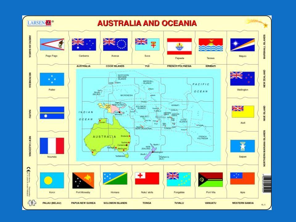 EKONOMIKA – shrnutí Mix ekonomik od vysoce rozvinutých a globálně konkurenceschopných (Austrálie, NZ) k méně vyspělých až rozvojovým (většina ostrovů) Ekonomika řada ostrovů závisí na obchodních vztazích s Austrálii, NZ a USA (vývoz i dovoz) Zemědělství: tropické a subtropické ovoce (kokosové palmy, kopra…), NZ specifické – ovce na vlnu, vinařství… Řemesla a průmysl – nerozvinutý, nejvíce potravinářský, rybolov a těžba Cestovní ruch – na řadě ostrovů, ale má rezervy Služby – Austrálie, NZ Mezinárodní pomoc – zásadní pro řadu ostrovních států
