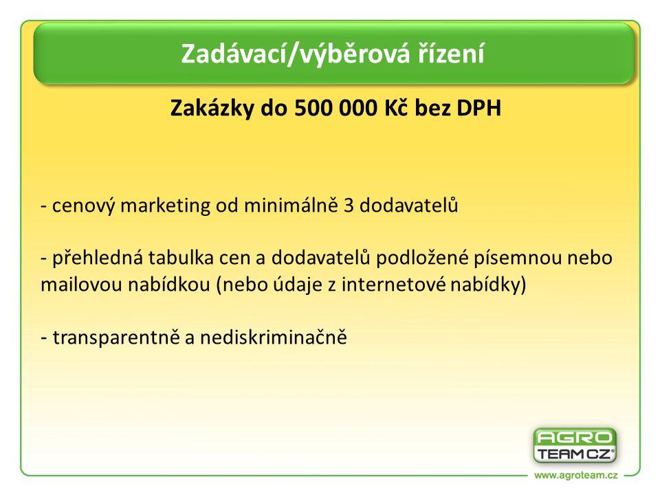 - cenový marketing od minimálně 3 dodavatelů - přehledná tabulka cen a dodavatelů podložené písemnou nebo mailovou nabídkou (nebo údaje z internetové