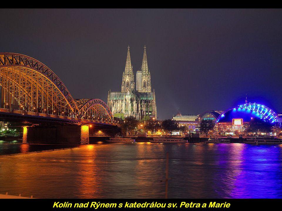Kolín nad Rýnem s katedrálou sv. Petra a Marie