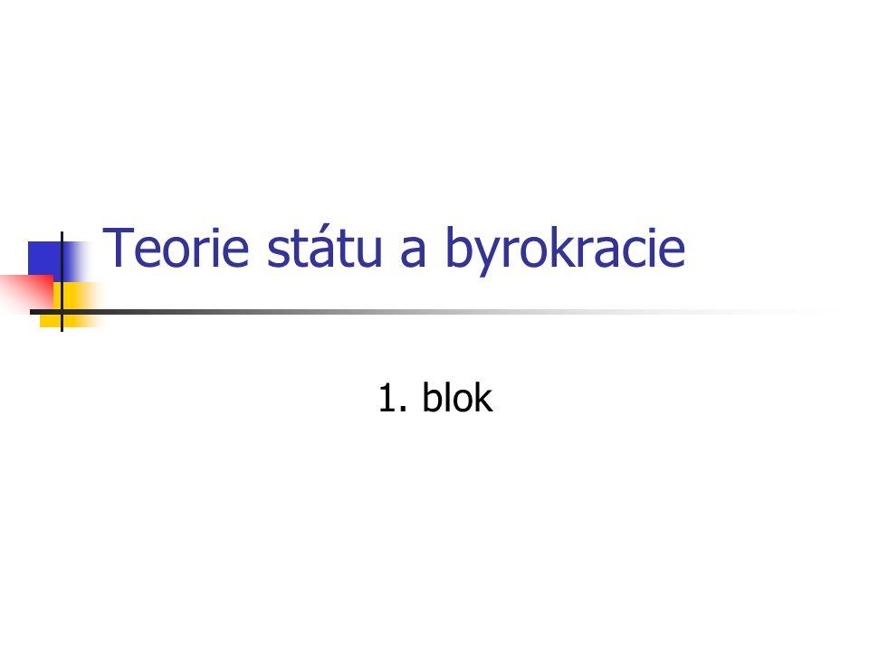 Teorie státu a byrokracie 1. blok