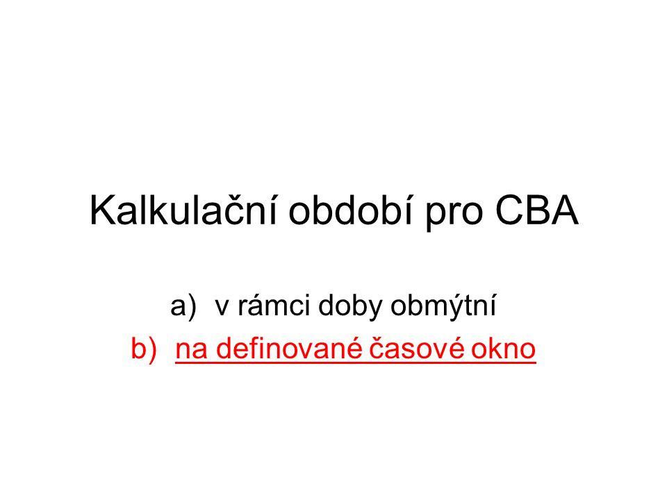 Kalkulační období pro CBA a)v rámci doby obmýtní b)na definované časové okno