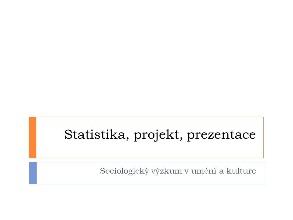 Statistika, projekt, prezentace Sociologický výzkum v umění a kultuře