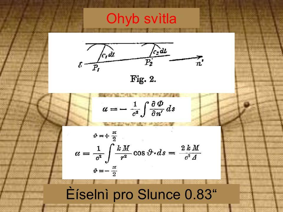 Ohyb svìtla Èíselnì pro Slunce 0.83