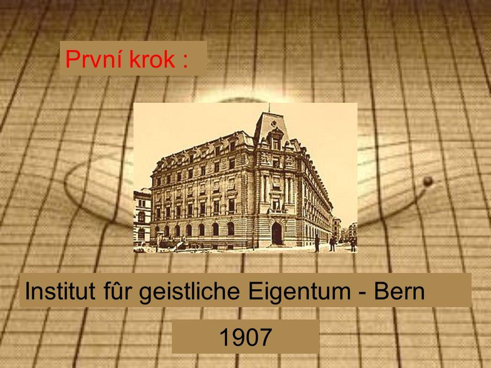 První krok : Institut fûr geistliche Eigentum - Bern 1907
